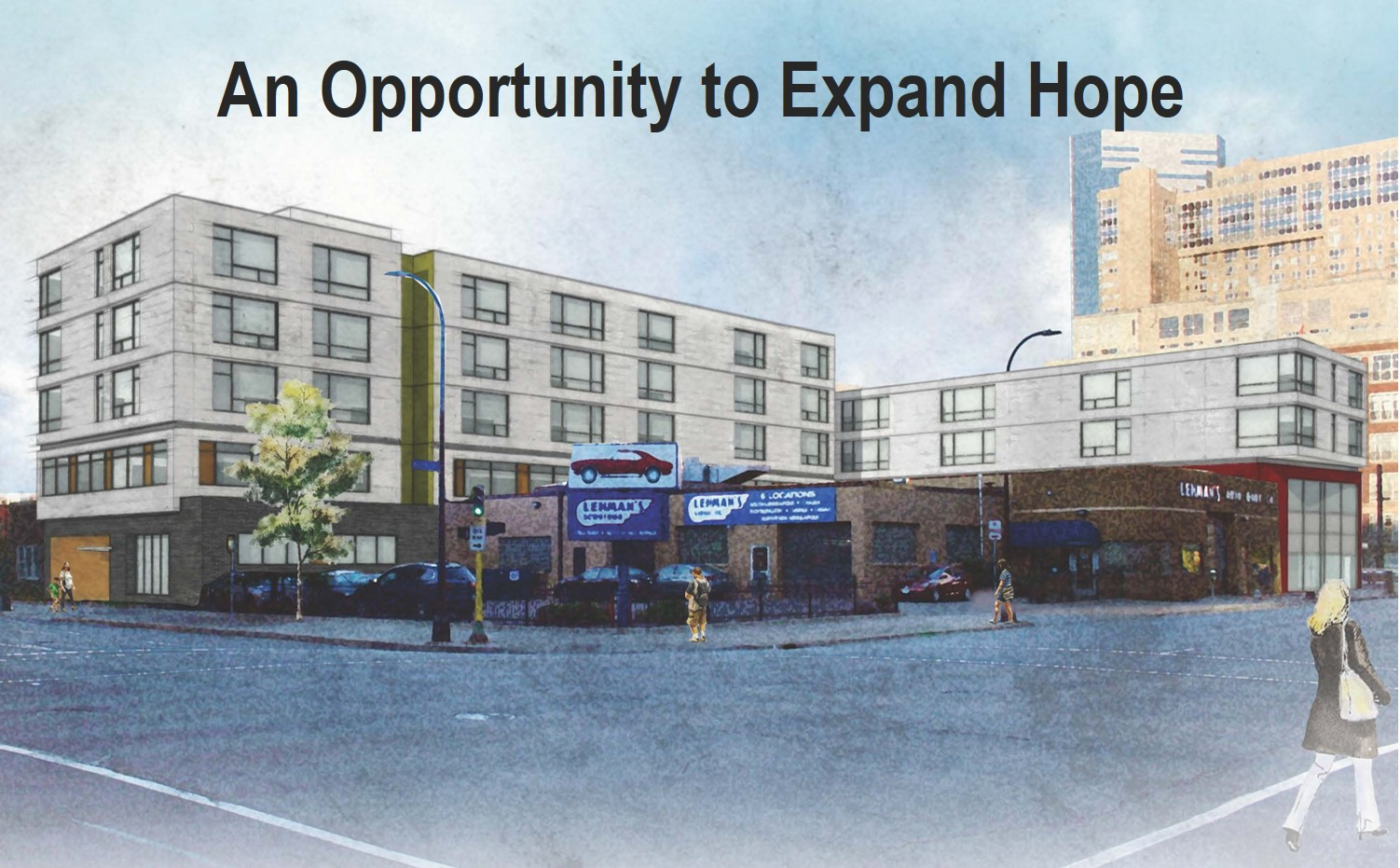 """An Opportunity to Expand Hope"" Image of proposed expansion of House of Charity, near the current Food Centre."
