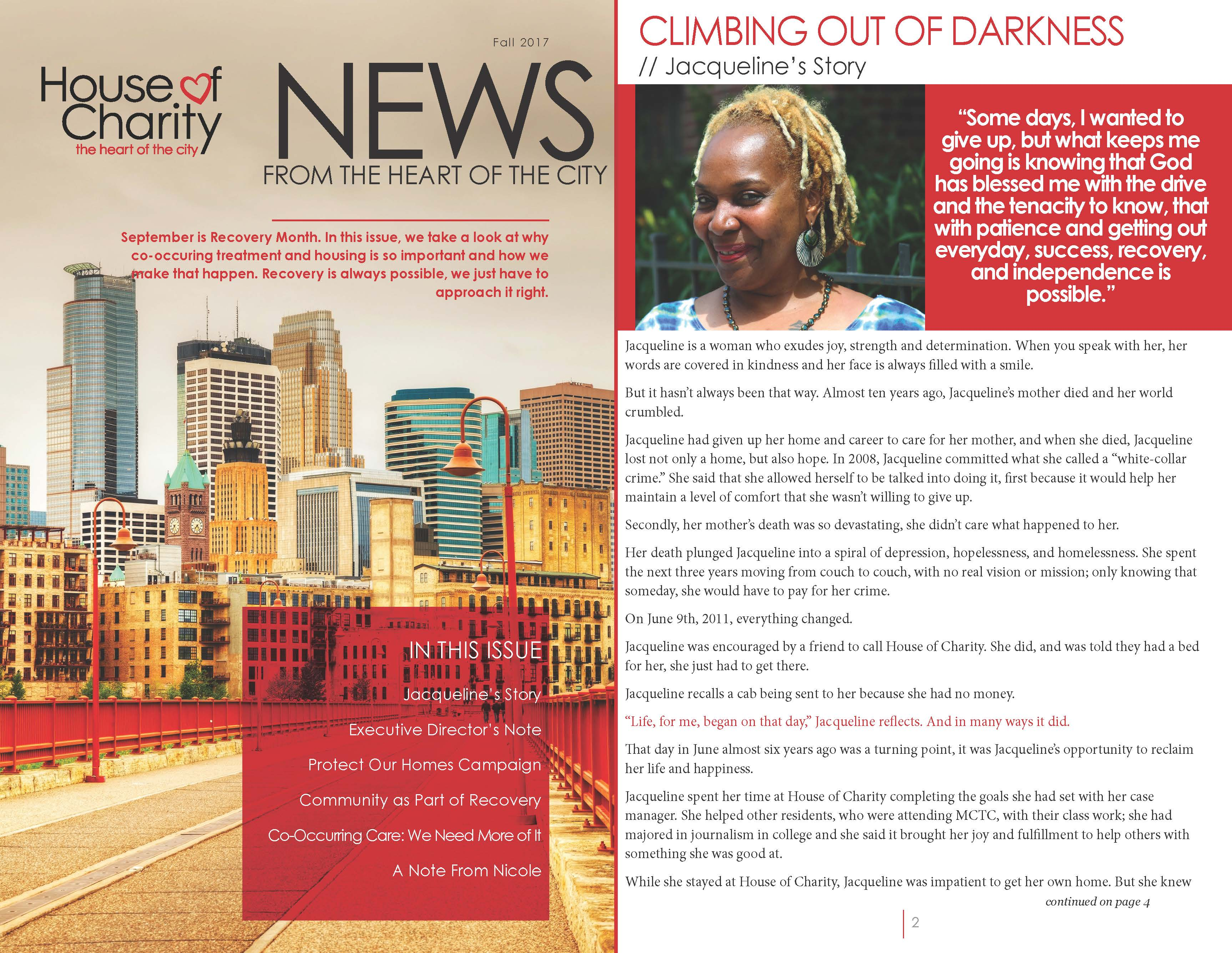 newsletters house of charity