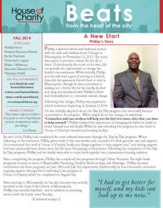 Fall Newsletter 2014, Pg 1