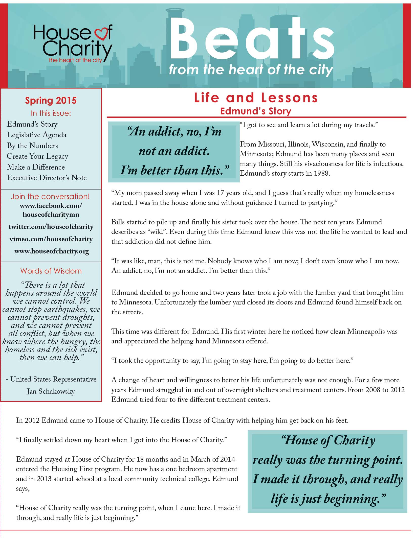 Spring Newsletter 2015, Pg 1
