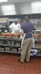 Preparing turkeys in HOC kitchen for the holiday meals